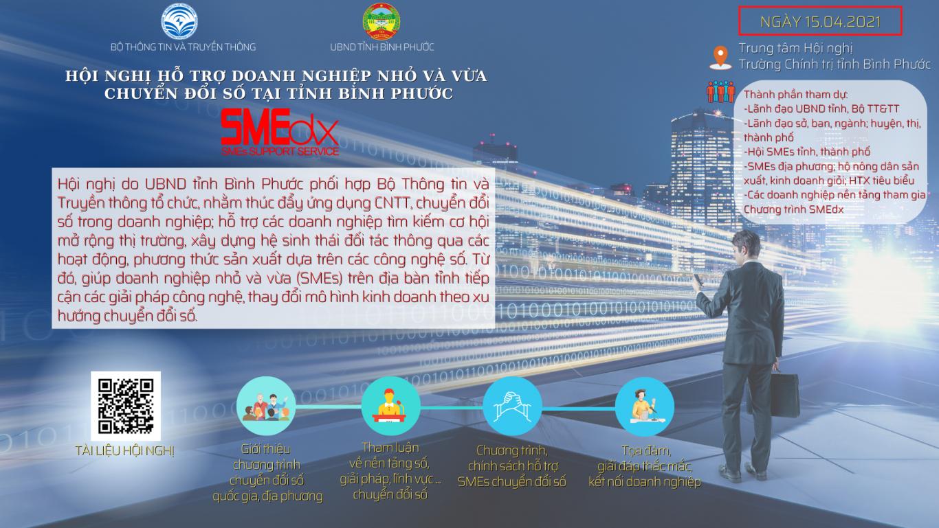 Hội nghị hỗ trợ doanh nghiệp nhỏ và vừa chuyển đổi số tại tỉnh Bình Phước